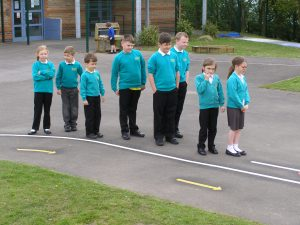 School Council looking at Bike Track