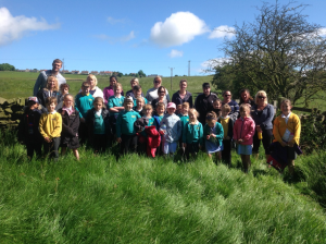 School Council and Buddies on their sponsored walk
